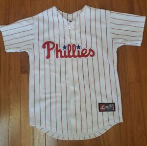 Majestic Philadelphia Phillies Youth M Roy Halladay #34 Home Jersey Baseball MLB