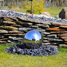 Edelstahl Kugel für Springbrunnen Edelstahlkugel Kugelbrunnen selber bauen LED