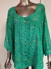 New LYS  3/4 Sleeve Chiffon Blouse Women's Plus 3X Retail $24.99