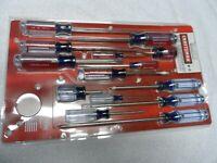 Craftsman Phillips Slotted Screwdriver Set, NOS USA (14 pcs) - Part # 44958