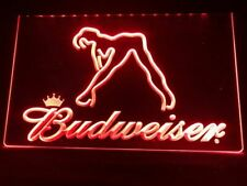 Budweiser Beer Bud Led Neon Light Up Sign Bar Pub ManCave Sport Gift Advertise