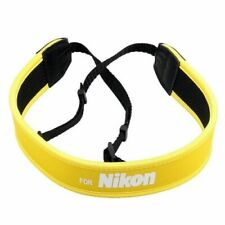 Yellow Neoprene Camera Neck Strap / Shoulder Belt for NIKON DSLR Camera