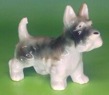 Vintage Gray and White Scottish or Wire Terrier Dog figurine, Japan