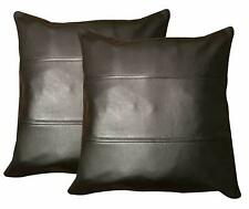 Throw Pillow Cover Cushion Cover Case Genuine Soft Lambskin Leather Home Decor