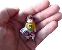 """Billy,  1.5"""" OOAK completely handmade miniature doll 16th or 24th scale, 1:24"""