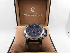 Alexandre Christie 6295 MCLEPBA Dark Brown Leather Analog Chronograph  Watch