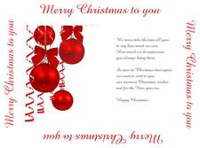 15/30 random Mixed Christmas Card verse  inserts