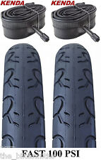 "2 PACK KIT Kenda KWEST 100 PSI 26"" x 1.5"" Bike Tires & TUBES Fast Slick MTB City"