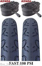 "2 PACK KIT Kenda KWEST 100 PSI 26"" x 1.5"" Bike Tires & TUBES Fast Slick MTB City"
