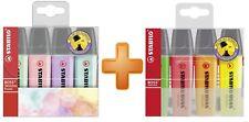 Stabilo Boss Surtidos cartera Resaltador plumas 2x 4 paquetes de punta de cincel 2.5 mm Pastel
