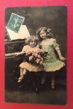 CPA. 1914. Petites Filles. Piano. Musique. Bonne Fête.