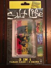 Salt Life iPhone 5 Case 3-in-1 Fish, Rasta, speckle, Clear Case With 3 Skins NEW