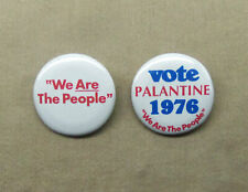 "We Are The People & Vote Palantine 1976 1.25"" Taxi Driver Buttons Repro Scorsese"