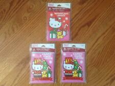 Lot of 3 Packages Hello Kitty Christmas Cards & Envelopes 24 Total Cards New Nip