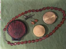 Lot Of 3 Vintage Compacts; etc....