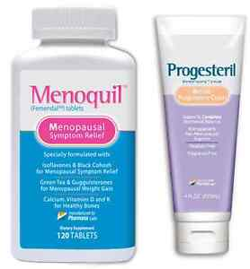 Menoquil + Progesteril  The Menopause Relief System