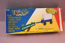 Wood covered wagon kit new in box