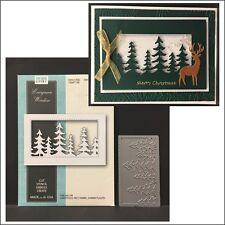 Evergreen Window metal die  - Memory Box dies 99505 trees,pine,scene,Christmas