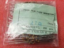 200 NIC NCF50J470B 47 OHM 5% 1/2 WATT CARBON FILM RESISTORS RESISTORS