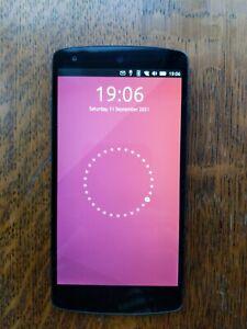 Black LG Nexus 5 16gb Unlocked Ubuntu Touch Privacy Degoogled Protest Smartphone