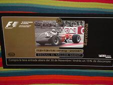 FORMULA 1 POSTER 50 GRAN PREMIO ESPAÑA BARCELONA 2006 NO DISPONIBLE EN TIENDAS