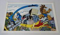 Original 1978 Fantastic Four Marvel Comics poster 1:Kirby art/1970's Marvelmania