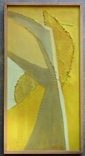 """Original BOYCE BENGE Signed """"14 Pine"""" Framed Abstract on Pieced / Sewn Canvas"""