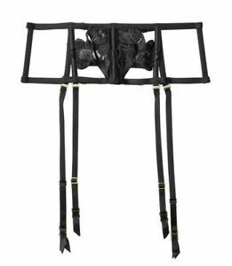 Victoria's Secret Very Sexy Floral Waist Cincher w/t garters XS / S black