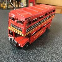 Retro Vintage London Bus Tinplate tin toy car vintage antique Rare vehicle