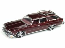 Auto World 1:64 1974 Buick Estate Station Wagon Burgundy Diecast Car AWSP007 B