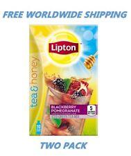 Lipton Tea & Honey Blackberry Pomegranate Iced Green Tea 2 PACK FREE WORLD SHIP