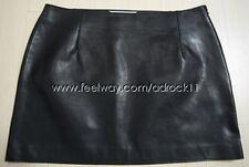 Masion Martin Margiela Short Black Leather Skirt Size EU 44 Simple Basic Style