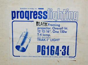 Progress Lighting #P6164-31 Black Framing Projector Trak-1 Light  New  S9803