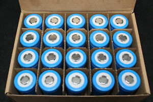 20 x  Lithium 3.3v 32700 6000mAh LiFePO4 Rechargeable battery cell UK tested.