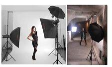 """33"""" 83cm Pro Studio Reflector Black Silver Umbrella Light softbox flash diffuse"""
