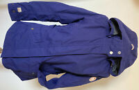 Stylishe ICEPEAK Damen Outdoor Jacke Gr 38 Royal Blau abn. Kapuze Allwetterjacke