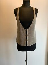 Sarah Pacini Lagenlook Button Up Tank Crochet Top One Size