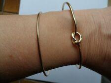 bracelets en métal doré 2p