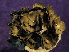 "Vintage Millinery Flower 1"" Primrose 12pc Lot Black for Hat Wedding + Hair Kd9"
