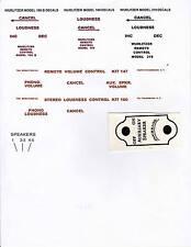 WURLITZER REMOTE CONTROL  169  169B  219  KIT 147  KIT 160  DECAL SETS