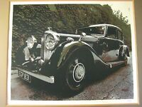 1937 Bentley Limited Edition 84/400 Serigraph Print W/ Frame, Signed By Artist
