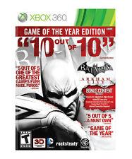 Batman: Arkham City - Game of the Year Edition (Microsoft Xbox 360, 2012) 2 Disc