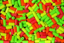 100pc NEON Mix TUBE BEADS for bird toys crafts rave jewelry