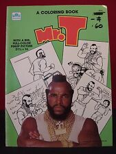 A Team 1984 Mr. T Unused Coloring Book & 2nd Bonus Book w/ Poster To Frame!