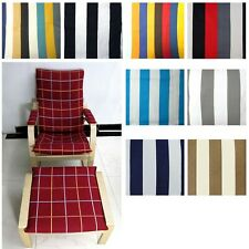 EXTRA PAD(EASY FIT Slipcover) NO ZIPPER-Tailor Made For IKEA Poang Arm Chair Ak