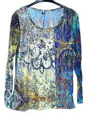 Damenblusen, - tops & -shirts mit Rundhals-Ausschnitt aus Polyester in Größe 46