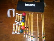 Vintage Spalding Croquet Set Complete with Case