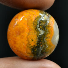 Cts. 22.95 Natural Bumble Bee Jasper Cabochon Round Exclusive Loose Gemstone