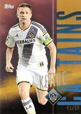 2015 Topps Major League Soccer Apex 'Captains' Card Gold Variations #'d to /50