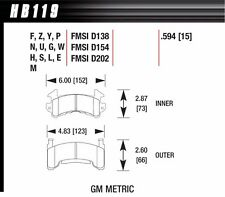Hawk Performance HB119M594 Metric GM Black Brake Pads IMCA Circle Track